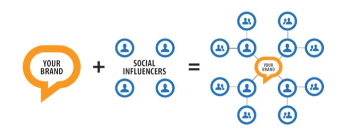 weergave van wat influencer netwerk