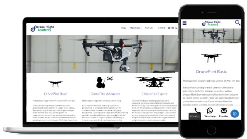 Responsive design Drone Flight Academy