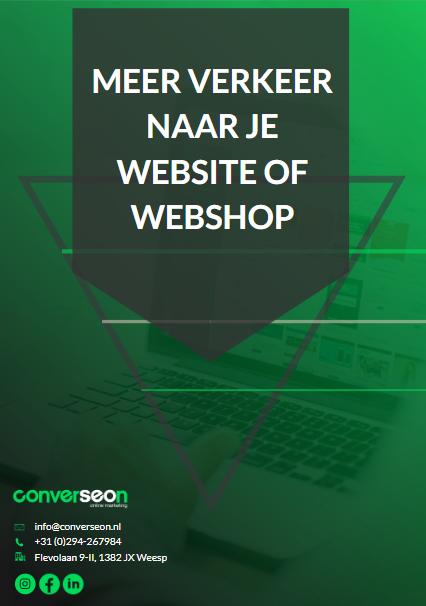 Whitepaper meer verkeer naar je website of webshop